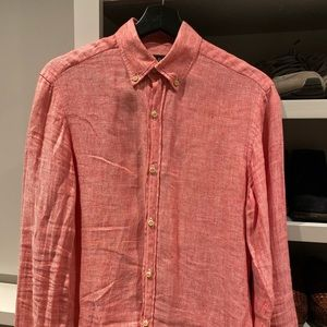Linen Massimo Dutti shirt with elbow patches